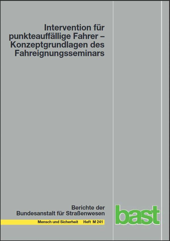 BASt-Bericht Fahreignungsseminar